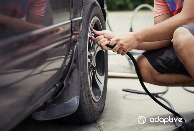 Calibrar os pneus influencia no consumo de combustível