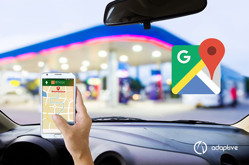 google maps posto de combustível