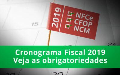 Cronograma fiscal 2019: Principais obrigatoriedades da NFe e NFCe dos Estados